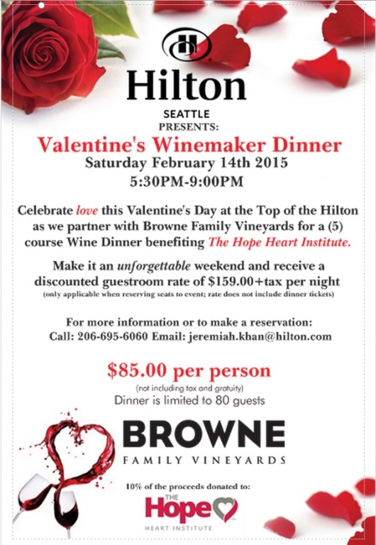 downtown seattle hotels | valentine's day at top of the hilton, Ideas